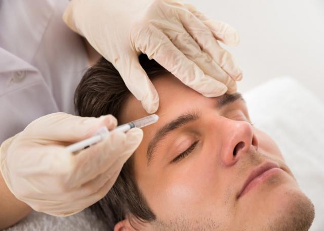 Stirnfalte mit Botox