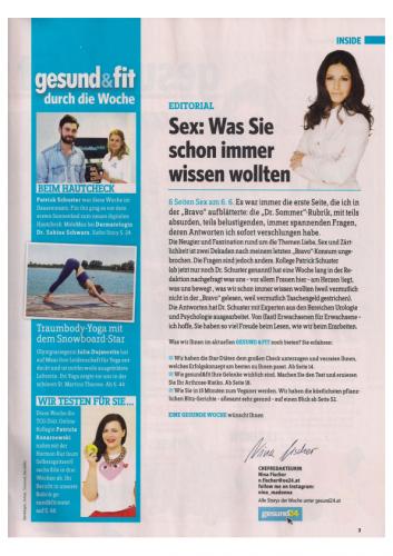 17075, Gesund & Fit, 06.06.2017, Sabine Schwarz, Muttermal Krebsfrueherkennung